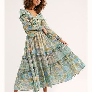 Boho Gypsy amethyst gown